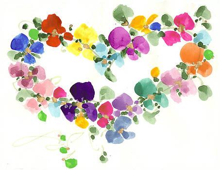 Flowers In My Heart by Darlene Flood