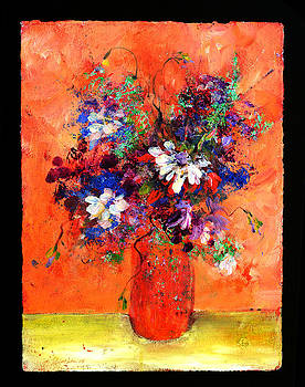 Flowers in orange by Johanna Littleton
