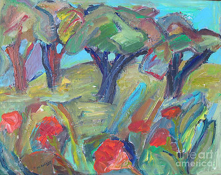 Flowers in the Orchard by Marlene Robbins