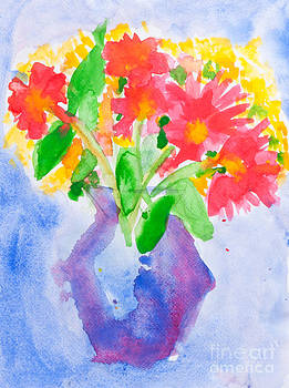 Flowers in vase by Jantima  Cha