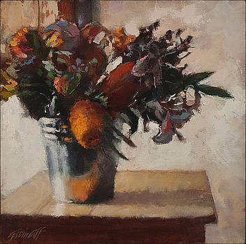 Flowers on Uncle Brian's Table by Gavin Calf