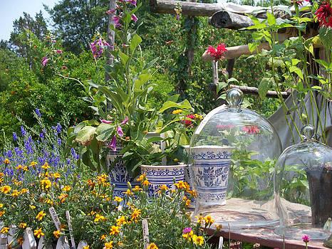 Flowers Under Glass by Valerie Longo