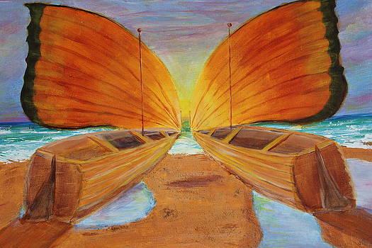 Fly Away Sunset by Christie Minalga