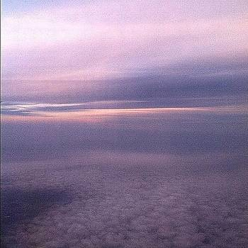 Fly By Sunset :) #plane #view #sunset by Caitlin Salvitti