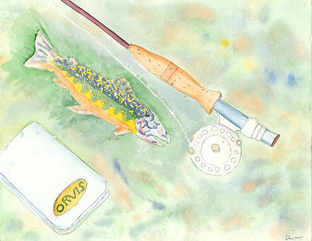 Fly Rod Rainbow by David Crowell