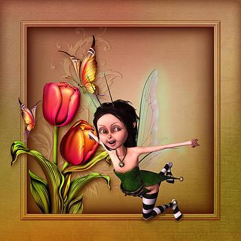 John Junek - Flying fairy in the garden