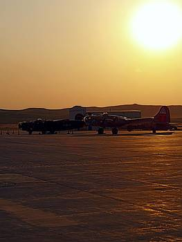 Flying Fortress at Sunset by Robert Lowe