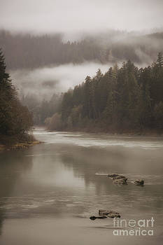 Fog along the Umpqua river by Timothy Johnson