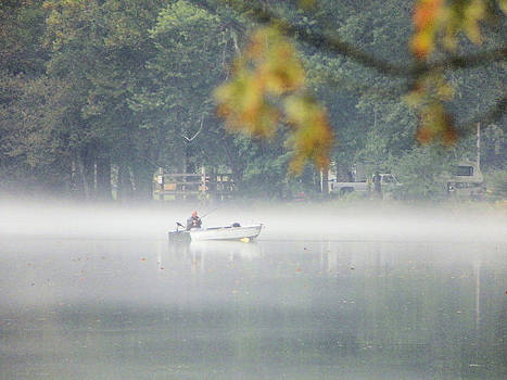 Suzie Banks - Fog and Fishing on the Watauga River 2