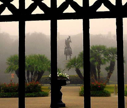 Fog in Jackson Square by Ted Hebbler