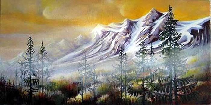 Foggy Day Whistler Blackomb by Dumitru Barliga