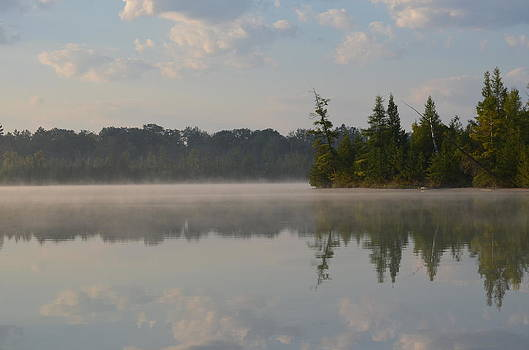 Foggy Morning on Grousehaven Lake by Jennifer  King