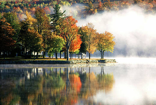 Foggy Morning on Loon Lake by Roger Soule