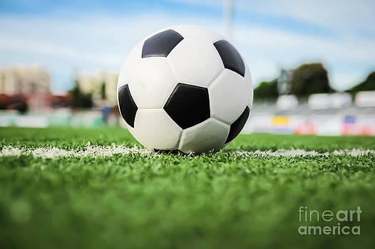 Football On Green Grass   by Mongkol Chakritthakool