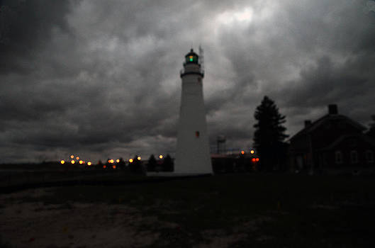 Fort Gratiot lighthouse at twilight by Cheryl Cencich