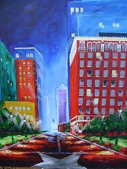 Fort Worth at Night by Barbara Sudik