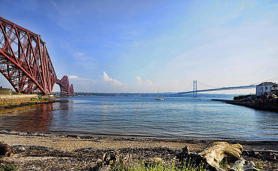 Forth Rail and Road Bridges by Alex Hardie