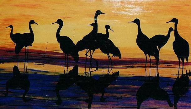 Fowl At Dusk by Otis L Stanley