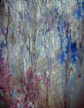 Foxgloves and Trees by Judy Osiowy