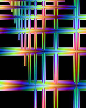 Fractal - Neon Lines by Karen R Scoville