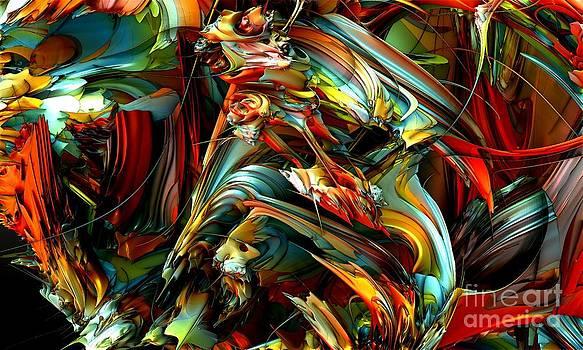 Fractal - Quadrichromie by Bernard MICHEL