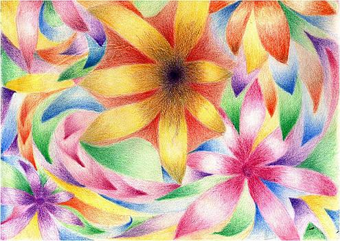 Fractal flowers by Linda Pope