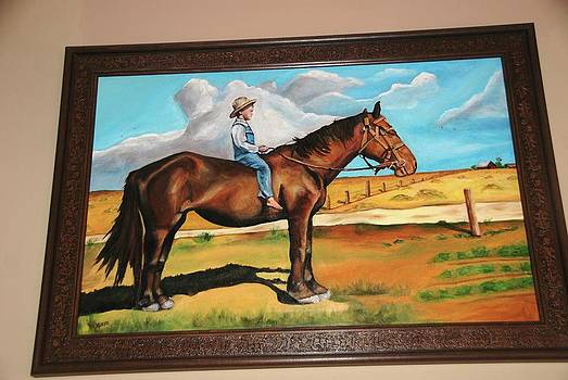 Kathleen Heese - Frame Painting of Molly and Roy