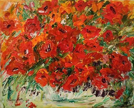 Free Flowing Poppies by Barbara Pirkle