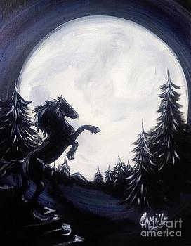 Free Spirit in the Moonlight by Camille Roman
