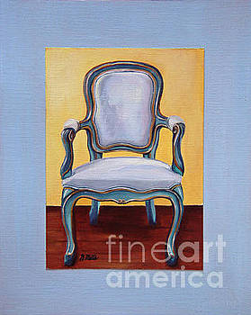 French Blue Chair by Gretchen Matta