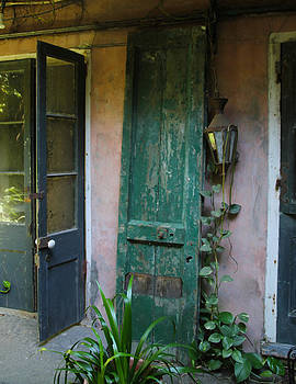 French Quarter Courtyard Doors by Gary  Taylor