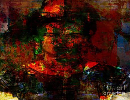 Frida in Mixed Media by Fania Simon