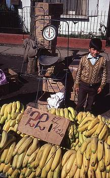 Fruit Stand In Chilean Market by Thomas D McManus