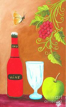 Fruits And Wine by Iris  Mora