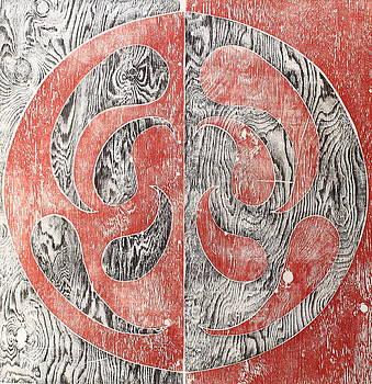Full Swing Yin Yang Red by Tamra Pfeifle Davisson