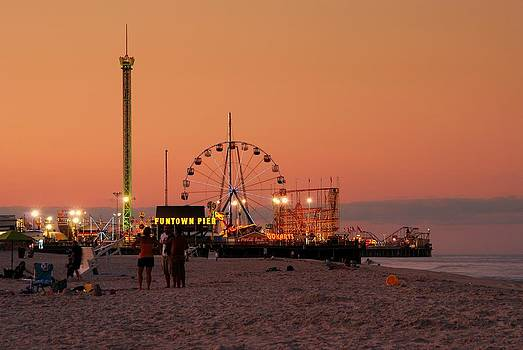 Funtown Pier At Sunset I - Jersey Shore by Angie Tirado
