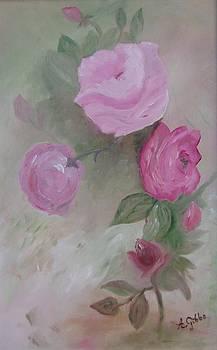 Fuschia Roses by Arlene Gibbs