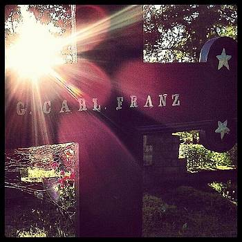 G. Carl Franz #sun #cross #cemetery by Luise Sommer