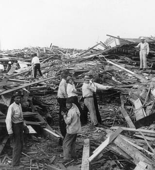 Galveston Disaster - c 1900 by International  Images