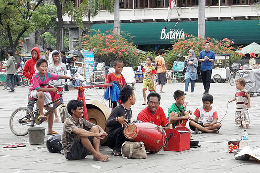 Gamelan Musician in Action by AndiZA