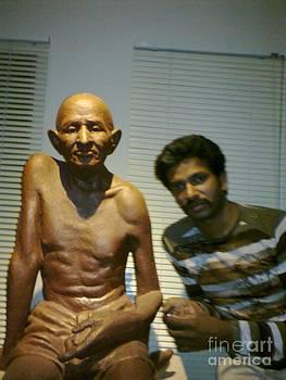 Gandhi With Me by Kiran Panchal