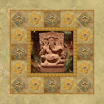 Ganesha in Space Glitter Frame by Susan Ragsdale