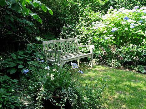 Garden Bench by Julia Jones