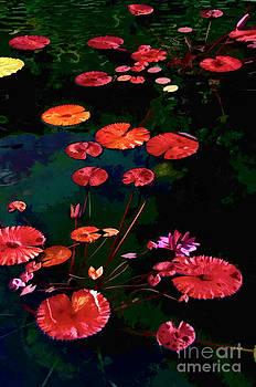 Garden Lily Pond by Maria Aiello