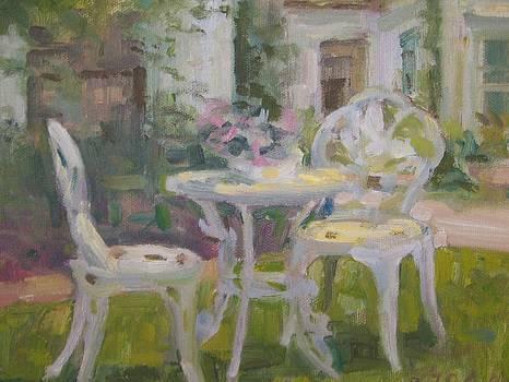 Garden table by Bart DeCeglie
