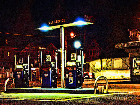 Anne Ferguson - Gas Station at Night