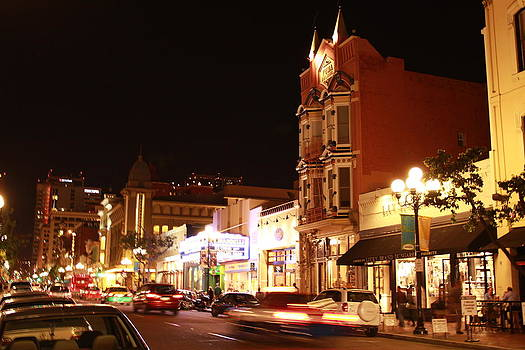 Gaslamp District Downtown San Diego CA by Kelly Turnage