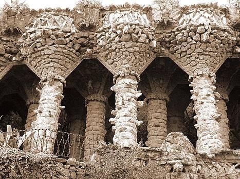 Gaudi Columns by Donna Corless