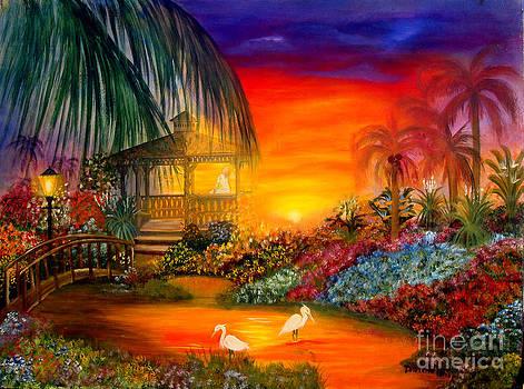 Gazabo Sunset by Darlene Green