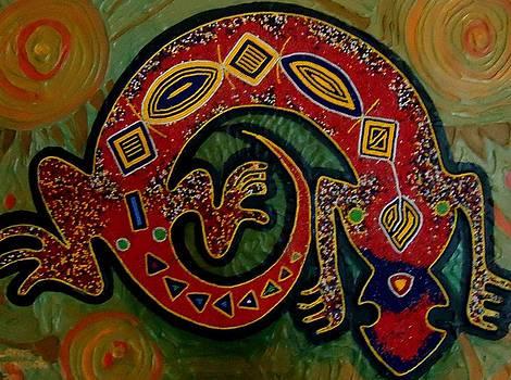 Gecko Lizard by Lanre Buraimoh